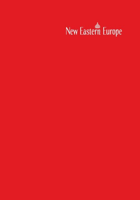 New Eastern Europe Issue 1