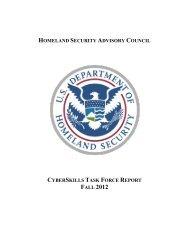CyberSkills Task Force Report - U.S. Department of Homeland ...