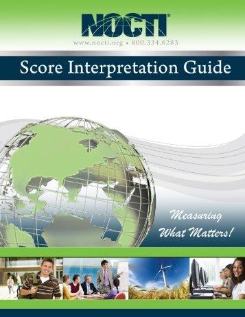 Score Interpretation Guide - nocti