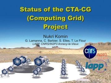 Status of CTA-CG and MC production