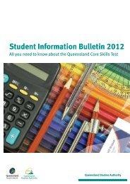 Student Information Bulletin 2012 - Queensland Studies Authority