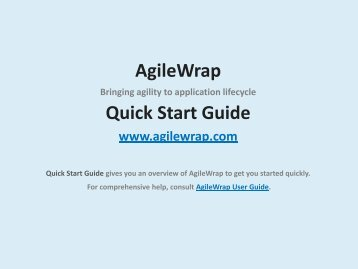 AgileWrap Quick Start Guide