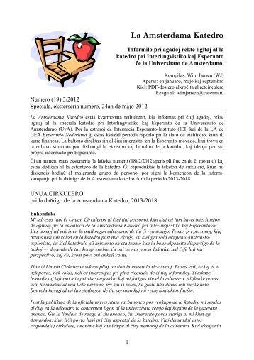 speciala informilo - Internacia Esperanto-Instituto