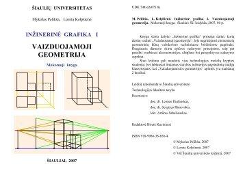 Vaizduojamoji geometrija(paskaitų konstektas) - Šiaulių universitetas