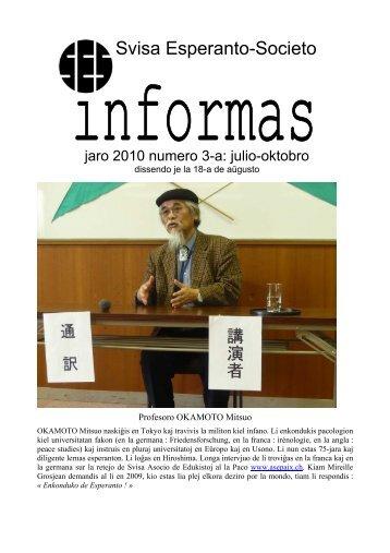 SES informas 2010-3 - Svisa Esperanto-Societo