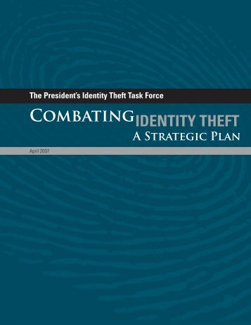 Combating - Identity theft is a crime