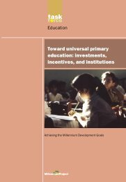 Toward universal primary education - UN Millennium Project