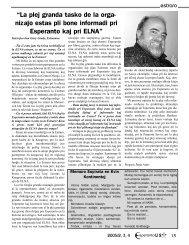 """""""La plej granda tasko de la orga- niza¢o estas pli ... - Esperanto-USA"""