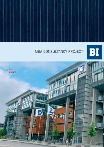 dear potential mba consultancy project