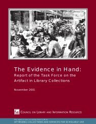The Evidence in Hand - Council on Library and Information Resources