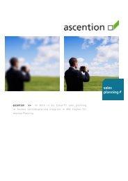 ascention >> ihr Blick in die Zukunft! sales planning ist flexible ...