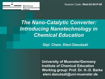 The Nano-Catalytic Converter: Introducing Nanotechnology in ...
