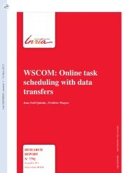 WSCOM: Online task scheduling with data transfers - HAL - INRIA