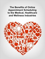 Benefits of Online Appointment Scheduling to ... - Appointment-Plus