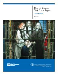 Church Systems Task Force Report Online Appendix