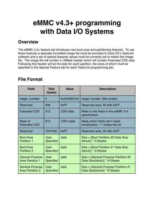 eMMC on Data IO pdf