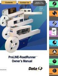 ProLINE-RoadRunner Owner's Manual ProLINE ... - Data I/O