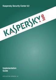 Kaspersky Security Center 9.0 Implementation Guide - Kaspersky Lab