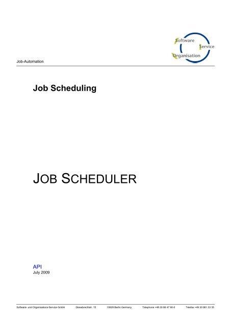 Job Scheduler: API - SOS-Berlin