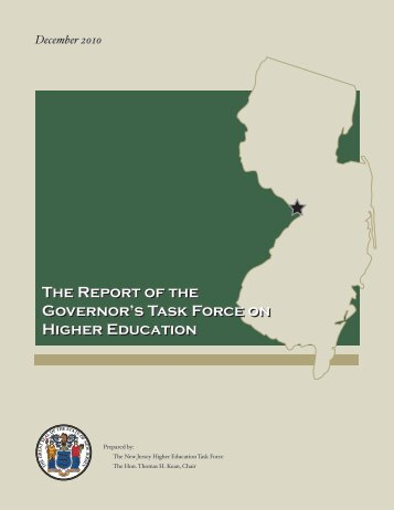 Higher Education Task Force Report - State of New Jersey