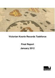 Victorian Koorie Records Taskforce - Public Record Office Victoria