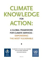 A GLOBAL FRAMEWORK FOR CLIMATE SERVICES ... - WMO