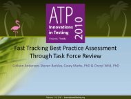 Fast Tracking Best Practice Assessment Through Task Force Review