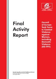 Final Activity Report of the Council of Europe Task Force