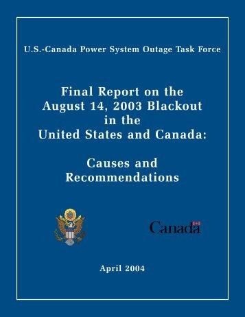 Full Report (6848 KB, PDF) - Blackout Report - U.S. Department of ...