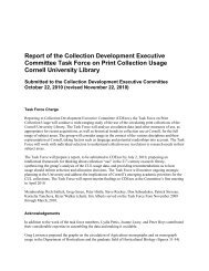 Report of the Collection Development Executive Committee Task ...