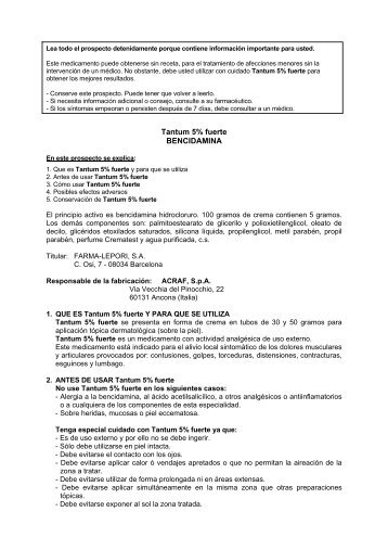 Tantum 5% fuerte BENCIDAMINA - Angelini