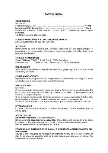 TANTUM BUCAL - Angelini