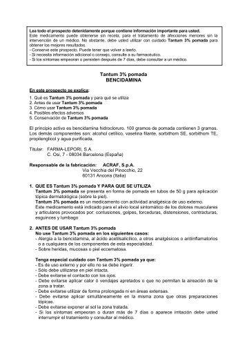 Tantum 3% pomada BENCIDAMINA - Angelini