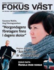 Susanna Wallin, Ung Företagsamhet - Fokus Väst