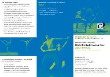 Bachelorstudiengang Tanz ZuKT_BAtanz ZuKT ... - HfMDK Frankfurt