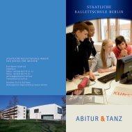 ABITUR TANZ - Staatliche Ballettschule Berlin