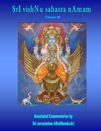 Vishnu Sahasra Naamam-Vol III-RR-edit.pub - Ibiblio