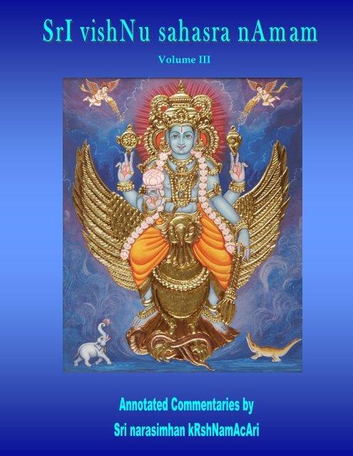 Vishnu Sahasra Naamam-Vol III-RR-edit pub - Ibiblio