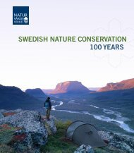 SWEDISH NATURE CONSERVATION 100 YEARS
