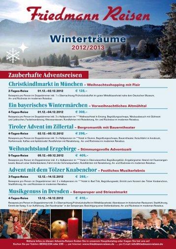 Winterträume - Friedmann-Reisen