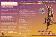 Kursplan der AW 2011 - Aerobic und Tanzwerkstatt Dresden eV