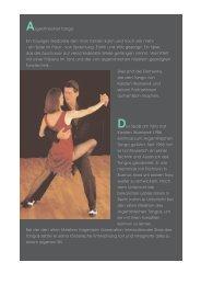 Argentinischer Tango: Ein trauriger Gedanke den man tanzen kann ...
