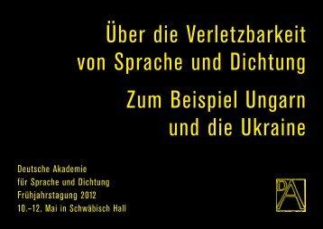 Programm - Deutsche Akademie für Sprache und Dichtung