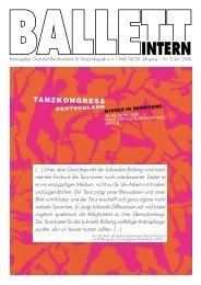 Ballett Intern 3/2006 - Deutscher Berufsverband für Tanzpädagogik