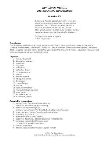 ap latin 2013 scoring guidelines college board rh yumpu com AP Physics Memes AP Physics Memes