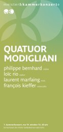 quatuor modigliani - Meister & Kammerkonzerte