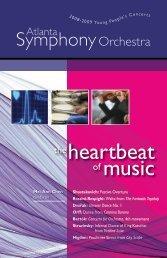 heartbeat of music - Atlanta Symphony Orchestra