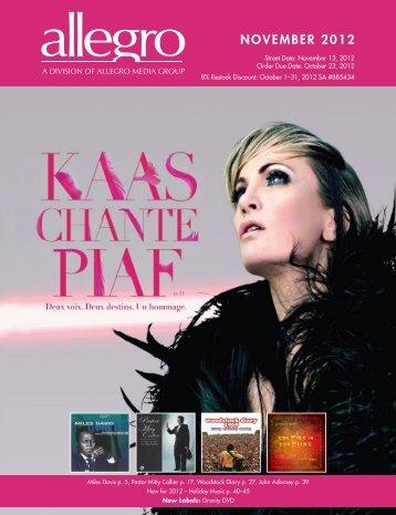 NOVEMBER 2012 - Allegro Music