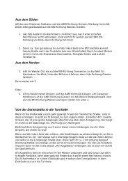 Wegbeschreibung als PDF zum Download - Giessen