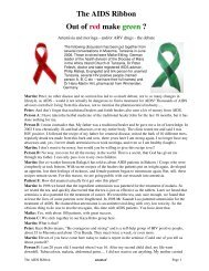 The AIDS Ribbon Out of red make green ? - Anamed